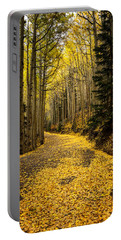 A Stroll Among The Golden Aspens  Portable Battery Charger