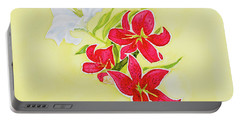 A Study Of Lilies Portable Battery Charger