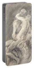 A Study Of Rodin's Kiss In His Studio Portable Battery Charger