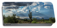 Portable Battery Charger featuring the photograph A Summer Day In The Sonoran  by Saija Lehtonen