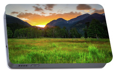 Portable Battery Charger featuring the photograph A Summer Evening In Colorado by John De Bord