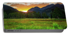 Portable Battery Charger featuring the photograph A Summer Evening In Colorado by John De Bord