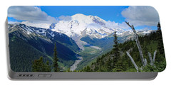 Portable Battery Charger featuring the photograph A Summer View Of The Mountain  by Lynn Hopwood