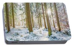 Portable Battery Charger featuring the photograph A Sunny Day In The Winter Forest by Hannes Cmarits