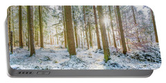 A Sunny Day In The Winter Forest Portable Battery Charger