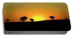 A Sunset In Namibia Portable Battery Charger by Ernie Echols