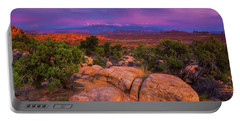 A Sunset Over Arches Portable Battery Charger