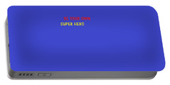 Portable Battery Charger featuring the digital art A Super Hero In Us by Aaron Martens