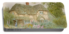 Thatched Roof Paintings Portable Battery Chargers