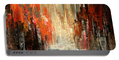 Portable Battery Charger featuring the painting A Tale Of Two Cities by Tatiana Iliina