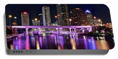 A Tampa Night Portable Battery Charger by Frozen in Time Fine Art Photography
