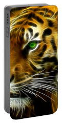 A Tiger's Stare Portable Battery Charger