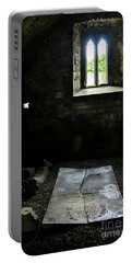 Portable Battery Charger featuring the photograph A Tombstone In Sligo Abbey by RicardMN Photography