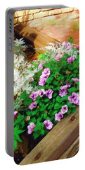 Portable Battery Charger featuring the painting A Touch Of Nature by Sandy MacGowan
