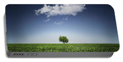 A Tree Covered With Cloud Portable Battery Charger by Bess Hamiti