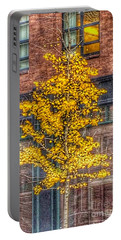A Tree Grows In Boston Portable Battery Charger by Patricia E Sundik