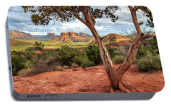 Portable Battery Charger featuring the photograph A Tree In Sedona by James Eddy