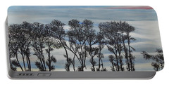 Portable Battery Charger featuring the painting A Treeline Silhouette by Marilyn  McNish