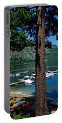 A Trees View Of Fallen Leaf Lake Portable Battery Charger
