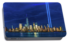 Portable Battery Charger featuring the photograph A Tribute At Dusk by Chris Lord
