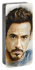 A Tribute To Robert Downey Jr. Portable Battery Charger