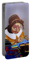 A Tribute To Vermeer  The Lacemaker Portable Battery Charger