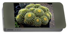 Portable Battery Charger featuring the photograph A Tub Of Barrel Cacti by Jay Milo