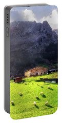 A Typical Basque Country Farmhouse With Sheep Portable Battery Charger