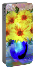A Vase Of Sunflowers Portable Battery Charger