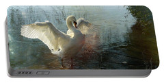 A Very Fine Swan Indeed Portable Battery Charger by LemonArt Photography