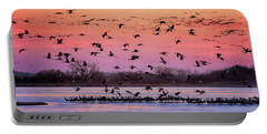 Portable Battery Charger featuring the photograph A Vibrant Evening by Susan Rissi Tregoning