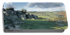 A View From Combestone Tor Portable Battery Charger
