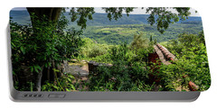 A View From Groznjan Of The Istrian Hill Town Countryside, Istria, Croatia Portable Battery Charger