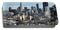 A View Of Downtown From Nob Hill Portable Battery Charger by Steven Spak