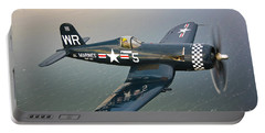 A Vought F4u-5 Corsair In Flight Portable Battery Charger by Scott Germain