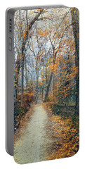 A Walk In November Portable Battery Charger by John Rivera