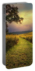 A Walk In Solitude Portable Battery Charger by John Rivera