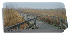 Portable Battery Charger featuring the photograph A Walk In The Fog by Liza Eckardt