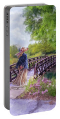 A Walk In The Garden Portable Battery Charger by Mary Timman