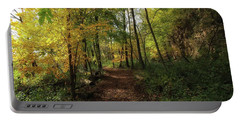 A Walk Through Autumn Portable Battery Charger by Jimmy Ostgard