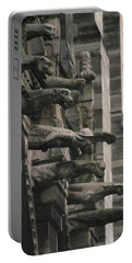 A Wall Of Gargoyles Notre Dame Cathedral Portable Battery Charger