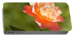 Portable Battery Charger featuring the photograph A Well Lighted Rose by AJ Schibig