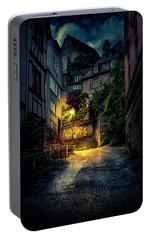 Portable Battery Charger featuring the photograph A Wet Evening In Marburg by David Morefield