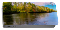 A Wide Scenic View Of Shetucket River. Portable Battery Charger