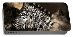 A Wild Steampunk Zebra Portable Battery Charger