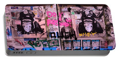 A Wiley The Monkey Mural In New York  Portable Battery Charger