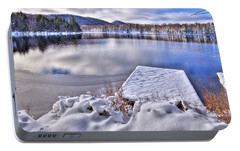 Portable Battery Charger featuring the photograph A Winter Day On West Lake by David Patterson