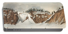 A Winter View Of The Falls Of Montmorenci Portable Battery Charger