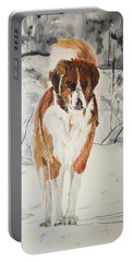 A Winter Walk Portable Battery Charger by Betty-Anne McDonald