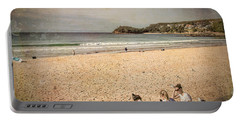 Portable Battery Charger featuring the photograph A Winter's Day In Manly by Elaine Teague
